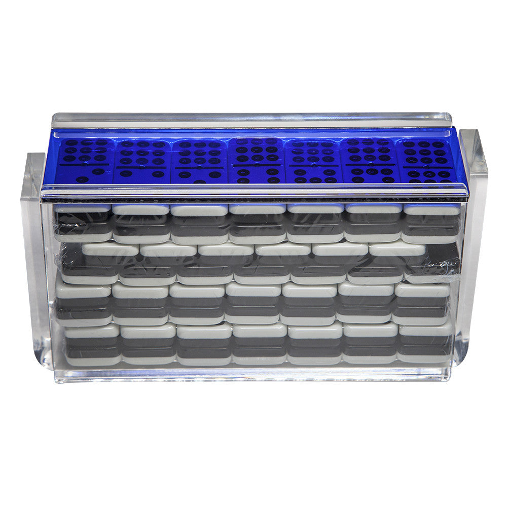 "Double 9 ""El Acere"" Domino Set - Blue"