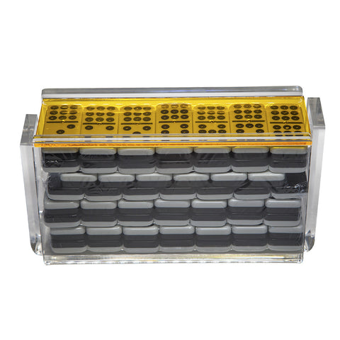 "Double 9 ""El Acere"" Domino Set - Yellow"