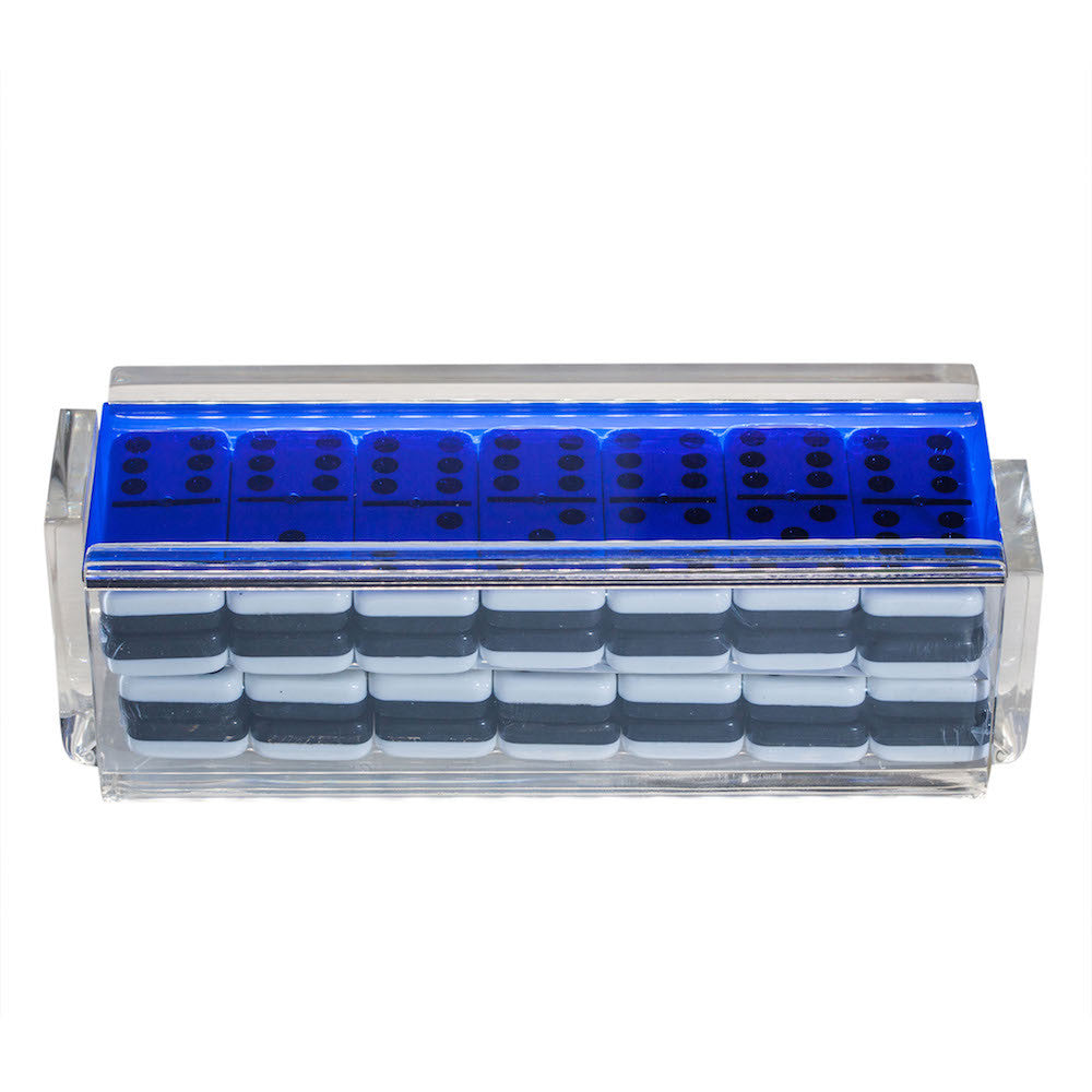 """El Tigre"" Domino Set - Blue"