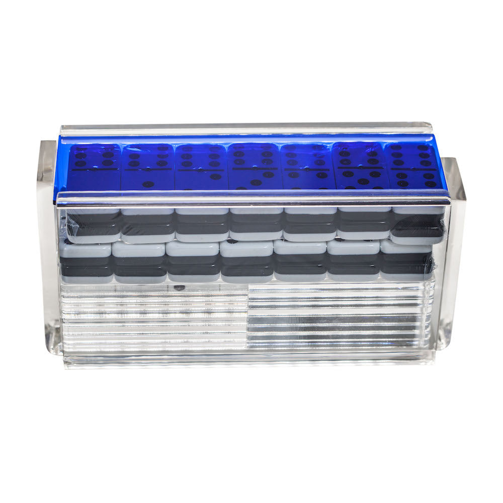 """El Catire"" Domino Set with Racks - Blue"