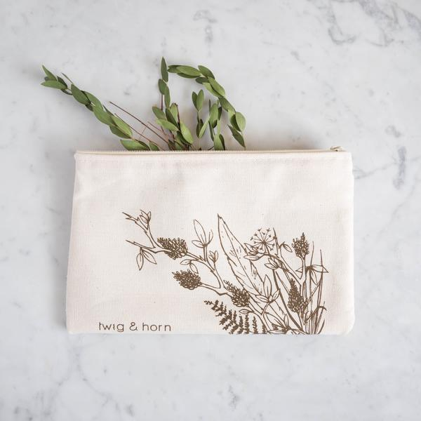 Twig & Horn | Illustrated Zip Pouch