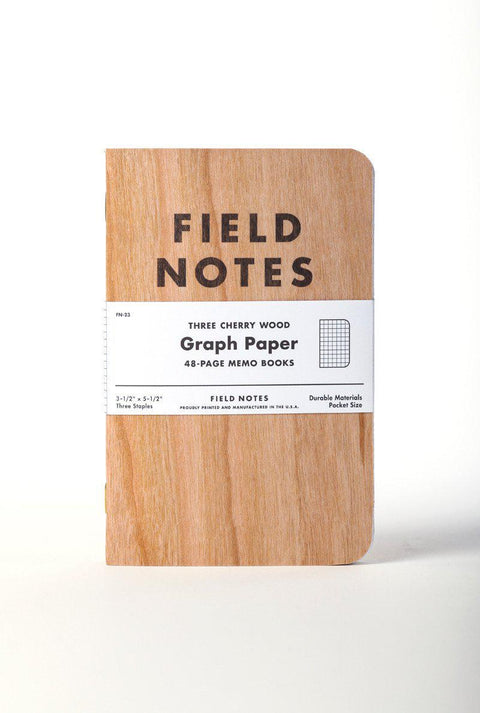 Field Notes | Cherry Graph 3-Pack