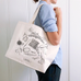 "Fringe Supply | ""Knitting Necessities"" Tote"