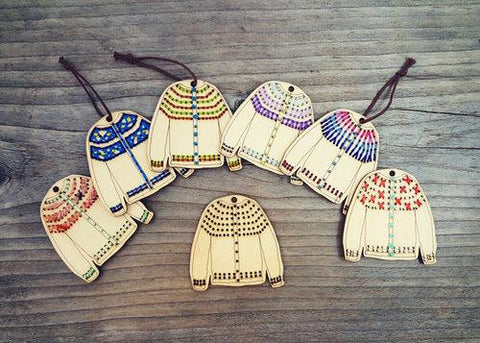 Katrinkles | Cardigan Ornament