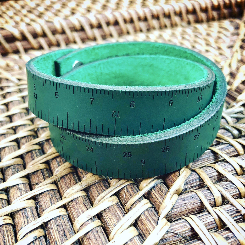 Leather Wrist Ruler | Limited Edition Firefly Green
