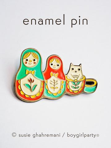 boygirlparty Pins | Matryoshka Cat