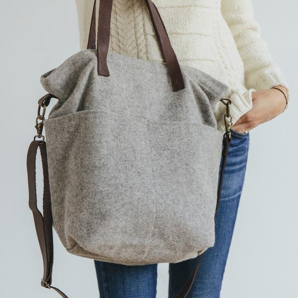 Twig & Horn | Wool Crossbody Project Tote