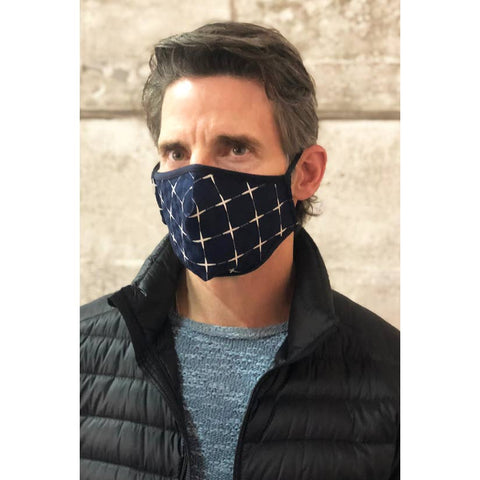 Eva Franco | Navy Geo Mens Mask