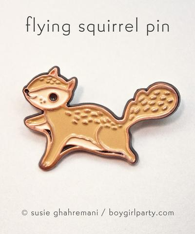 boygirlparty Pins | Flying Squirrel