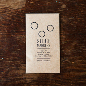 Fringe Supply | Stitch Markers Black
