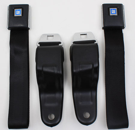 1967-69 Camaro Front 2-Point Retractable OEM Lap Belts (3 Panel); - MorrisClassic.com, classic car seat belt
