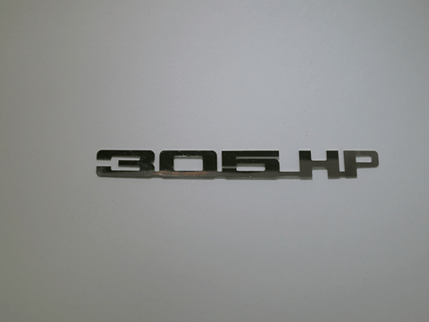 Horsepower Emblem - 305 HP; - MorrisClassic.com, emblems