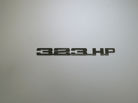 Horsepower Emblem - 323 HP; - MorrisClassic.com, emblems