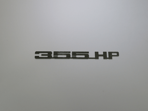 Horsepower Emblem - 355 HP; - MorrisClassic.com, emblems