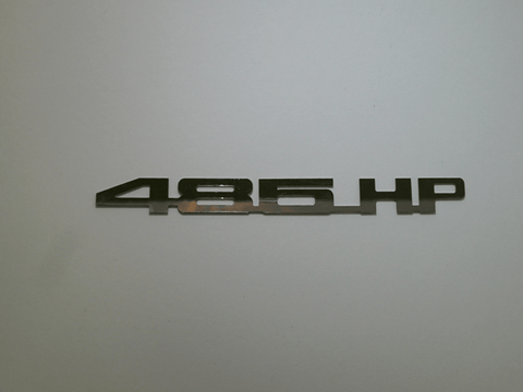 Horsepower Emblem - 485 HP; - MorrisClassic.com, emblems