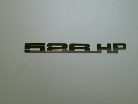 Horsepower Emblem - 526 HP; - MorrisClassic.com, emblems