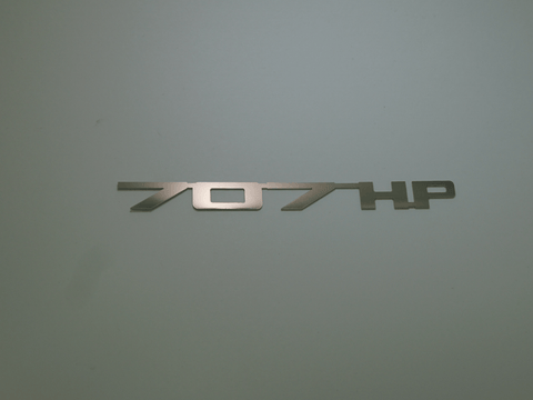 Horsepower Emblem - 707 HP; - MorrisClassic.com, emblems