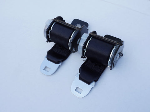 AU Compliant 1974-81 Camaro Rear 2-Point Retractable Seat Belts; - MorrisClassic.com, australian classic car seat belts