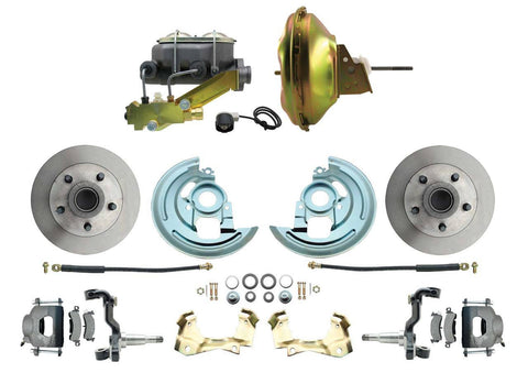 1964-1971 Oldsmobile 442 Front Power Disc Brake Conversion Kit; Disc Brakes- MorrisClassic.com