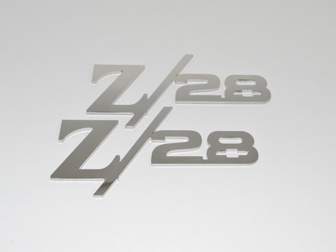 Z/28 Fender Emblems With Bowtie; - MorrisClassic.com, emblems