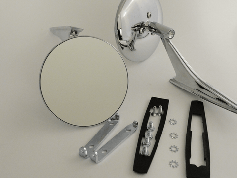 Round Clear Shot Mirrors; - MorrisClassic.com, classic car mirrors