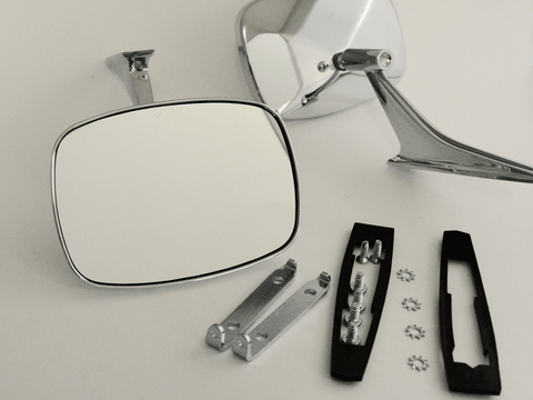 Rectangular Clear Shot Mirrors - Full Set; - MorrisClassic.com, classic car mirrors