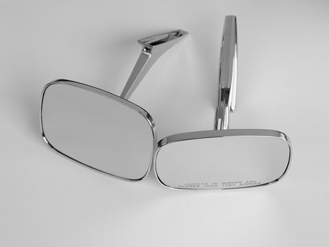 Clear Shot V2 Rectangular Mirrors - Full Set; - MorrisClassic.com, classic car mirrors