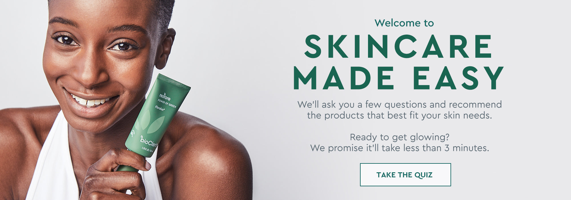 Welcome to Skincare Made Easy - Follow link to start the skin quiz