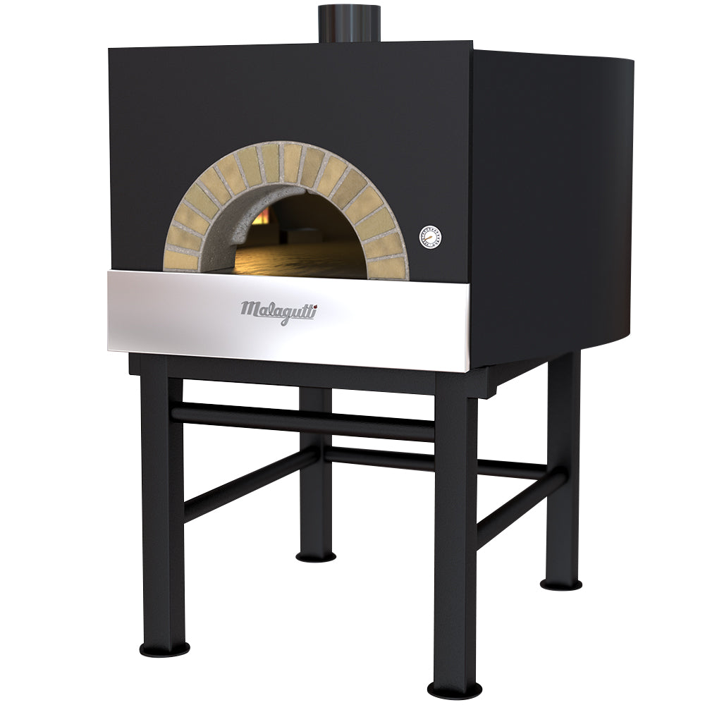 Malagutti Milano Fired Oven with a dark grey finish.