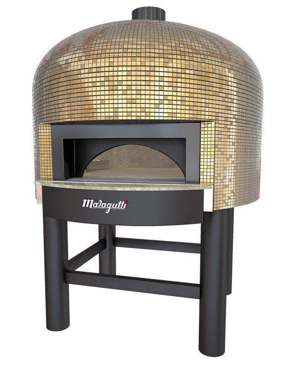 Napoli fired oven with a Gold tiled finish.