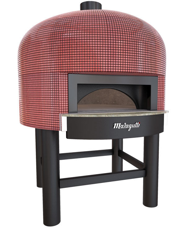 Napoli fired oven with a red tiled finish.