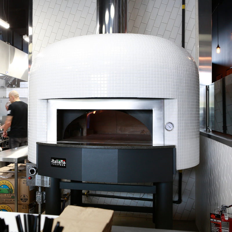 A Napoli Fired oven with a clean and pure white finish.
