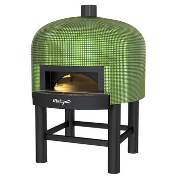 Napoli fired oven with a green tiled finish.