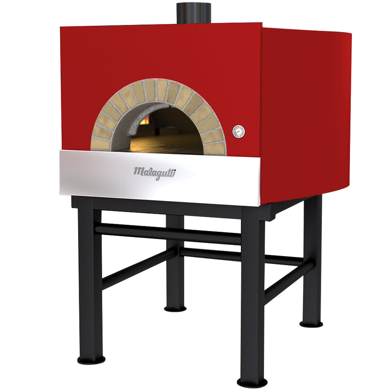 Malagutti Milano Fired Oven with a red finish.