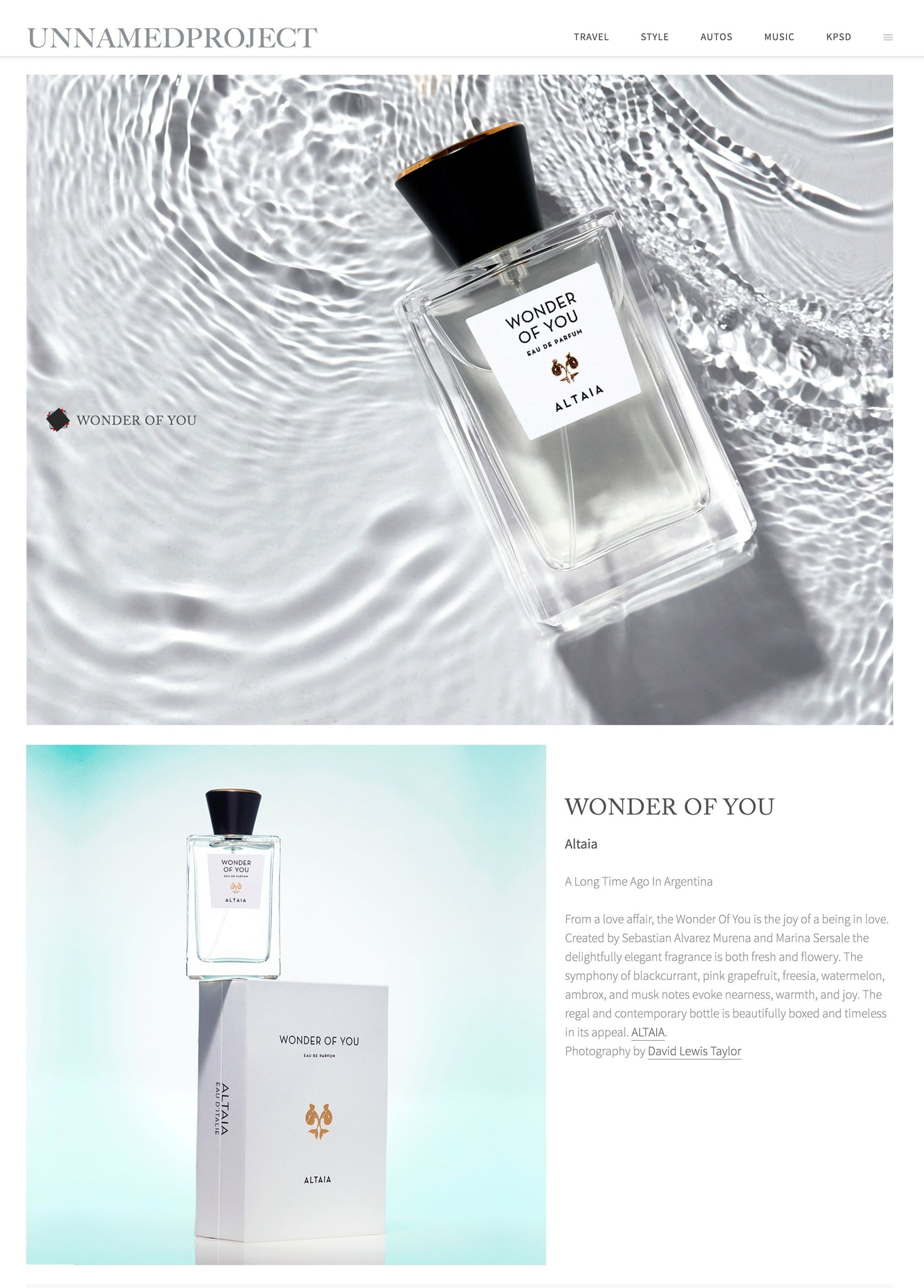 ALTAIA, Wonder of You, Eau de Parfum, Beauty Frontier