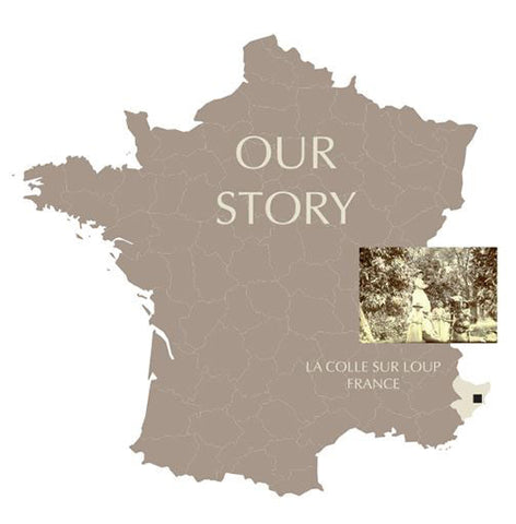 Our Story - LaColle Sur Loup France map
