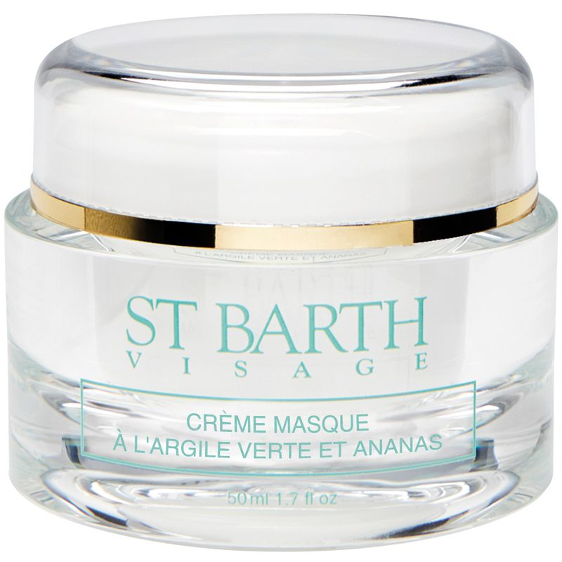 Ligne St. Barth Cream Mask with Green Clay and Pineapple 50 ml