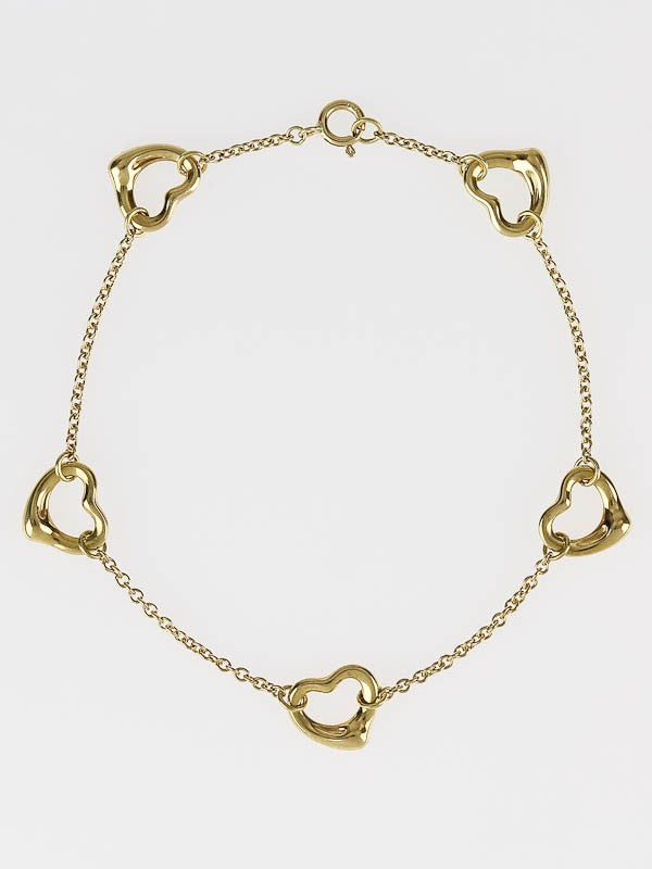 14kt Link and Heart Style Bracelet