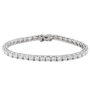 18kt White Gold diamond set Tennis Bracelet