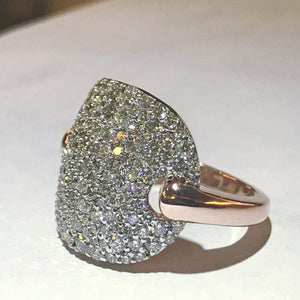 14KT Rose Gold and Diamond Ring