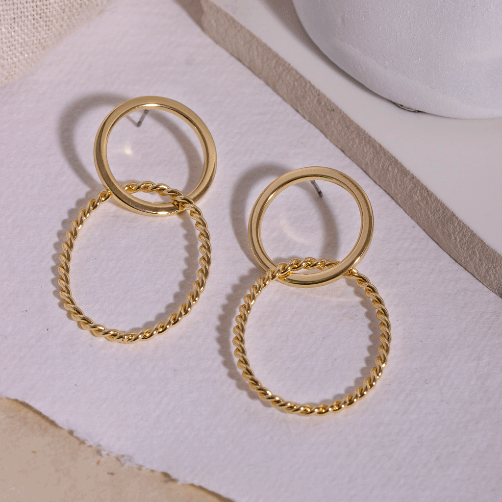 Abelle Gold Earrings - Emma & Chloe