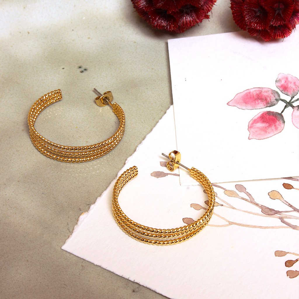 Alphonsine Gold Earrings - Emma & Chloe