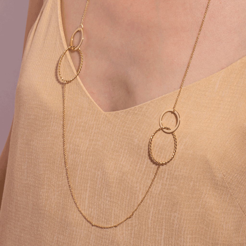 Apolline Long Gold Necklace - Emma & Chloe