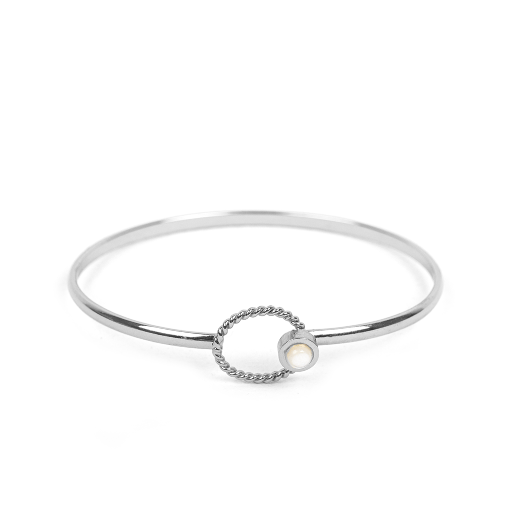 Aurélie Silver Bangle - Emma & Chloe
