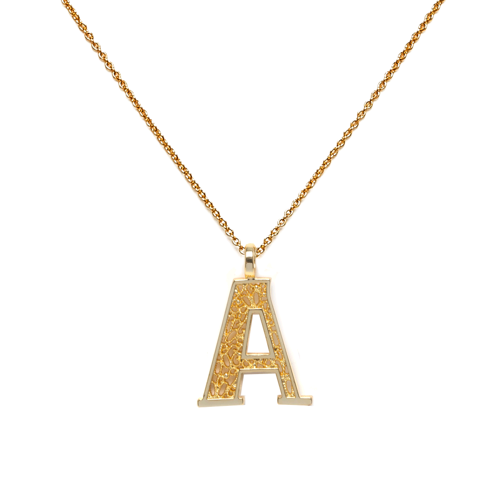 Letter Gold Necklace - Emma & Chloe