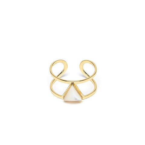 Lisa Gold Ring-Rings-L'Atelier Emma&Chloé-Mother of Pearl-Emma & Chloe US