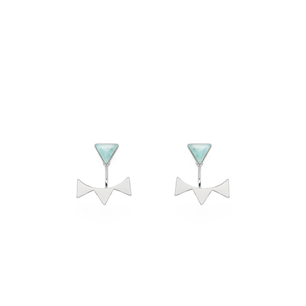 Lyra Earrings Silver - Emma & Chloe