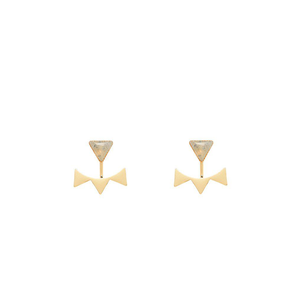 Lyra Earrings Gold - Emma & Chloe