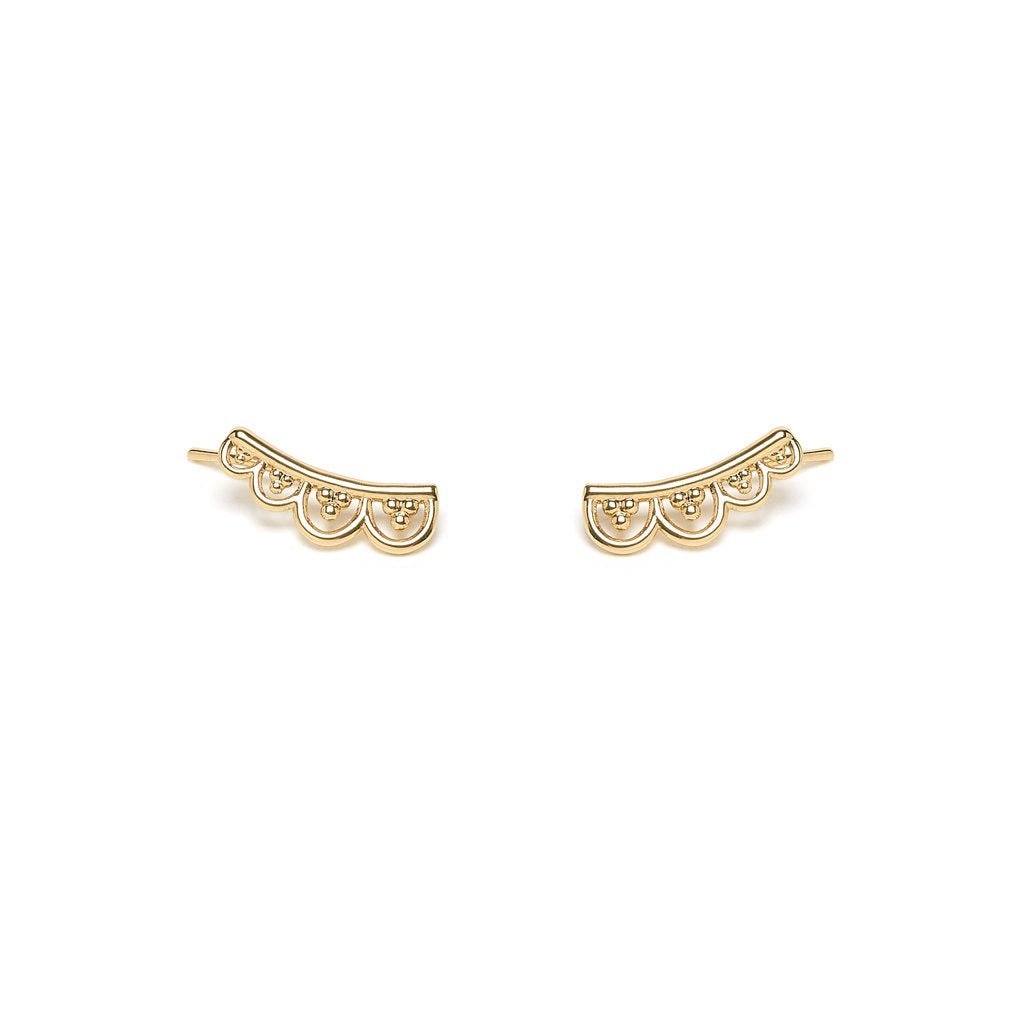 Hylana earrings gold - Emma & Chloe