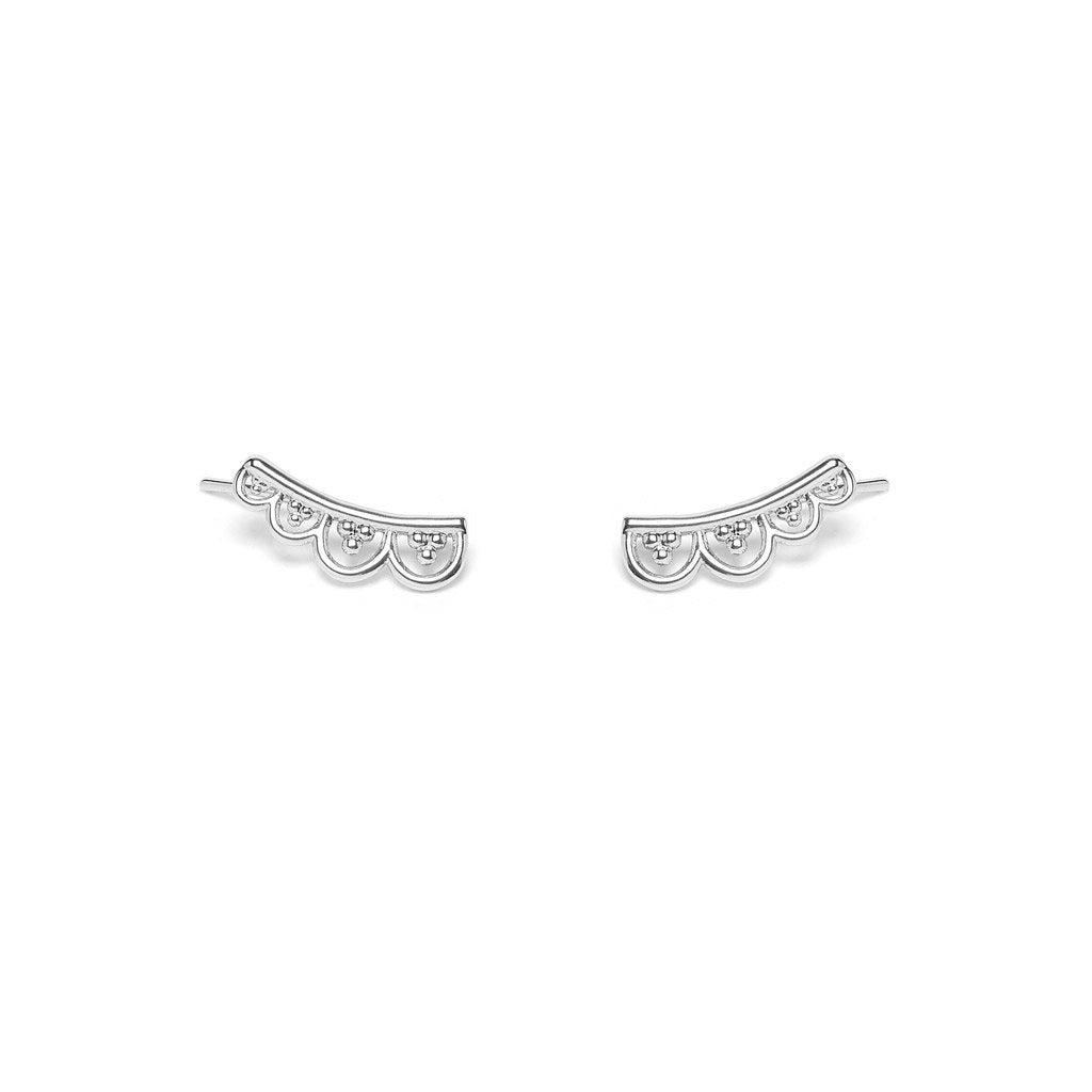 Hylana earrings silver - Emma & Chloe